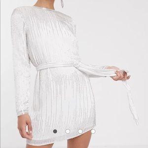 ASOS Gorgeous Beaded White Dress